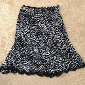 Nine & Company leopard print skirt size 6